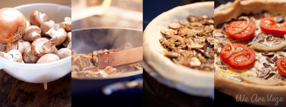 tarte champignon oignon vegetarienne