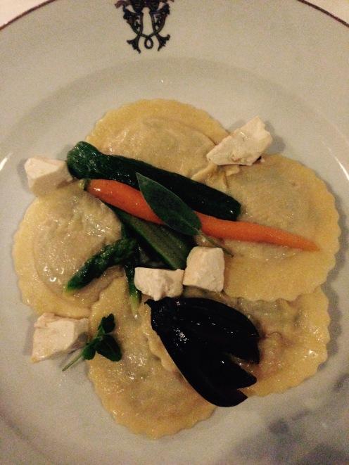 Raviolis aux légumes et tofu soyeux