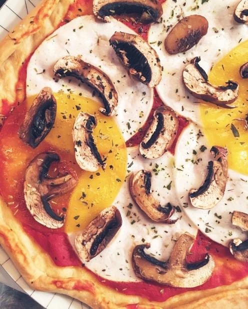 Sur des pizzas
