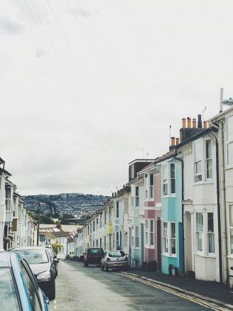 Une ruelle résidentielle à Brighton